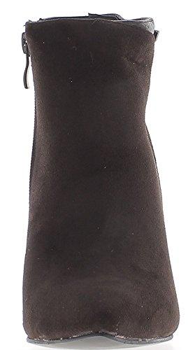 Botas a mujer marrón material bi de tacón 11cm