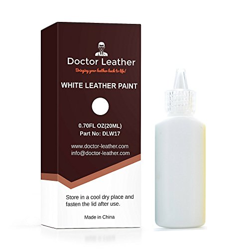 Doctor Leather | White Leather Paint | Non Toxic Premium Grade | Use to Restore and Repair Your White Leather Items | for Handbags, Car Seats, Couches, Sofas, Boats, Jackets ()