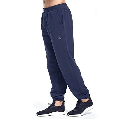 Goodsport Men's Fleece Jogger Athletic Pant, Blue Depths, (Golf Sweatpants)
