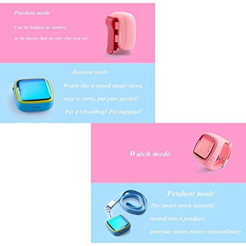Smartwatch Teléfono Reloj Teléfono Teléfono Teléfono Celular Anti-perdida Impermeable Colgante GPS, Teléfono SIM Anti-perdida SOS Pulsera Niño Niña Regalo ...