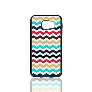 Colorful Zig Zag Chevron Trendy Custom Hard Plastic back Phones Case for Samsung Galaxy S6 - Galaxy S6 Case Cover