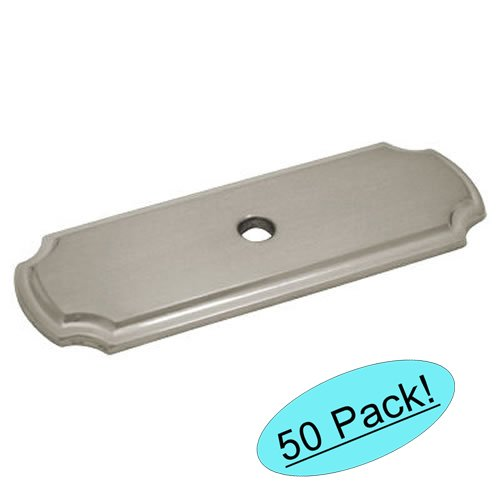 Cosmas B-112SN Satin Nickel Cabinet Hardware Knob Backplate / Back Plate - 50 Pack