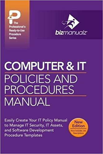 computer it policies and procedures manual new content edition