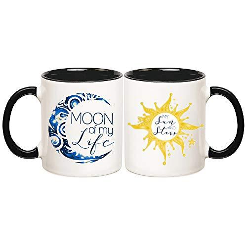 - AliceHitMood - Marriage Coffee Mug | Moon of My Life, My Sun and Stars | Color | Game of Thrones | Couple Mug/Lovers| Set of 2, 11oz Ceramic Coffee Mug/Cup, Gift Wrap Available