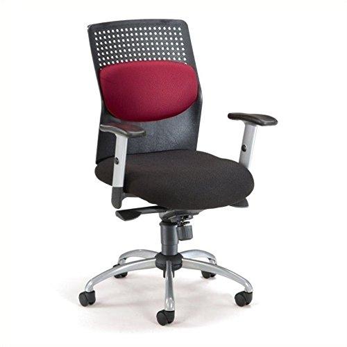 OFM Airflo Series Executive Task Chair - Ergonomic Work Chair, Burgundy (651-M13)