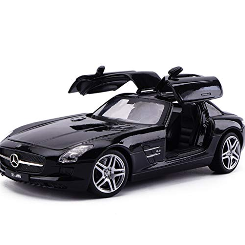 - LiQce Car Model 1/24 Sports Car Simulation Car Model SLS AMG Alloy Car Model Toy Ornaments Collection Black/Red / - Hard Top to Send Boys Gifts (Color : Black)