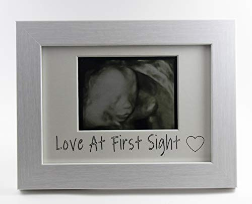 - Trove Logic, Sonogram Picture Frame, Love at First Sight, Ultrasound Picture Frame, White, Gift for Expecting Parents, Gift for Grandparents