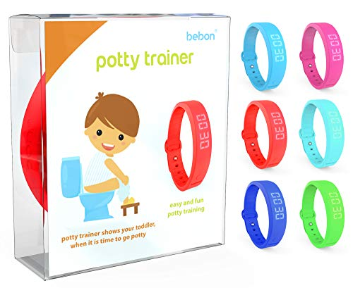 Potty Trainer – New Upgraded Version – Toilet Trainer for Kids Makes Potty Training Easier – Timer with Extra Wrist Band, Smaller Wrist Band Size, Water Resistant + More Colors (red + Blue)