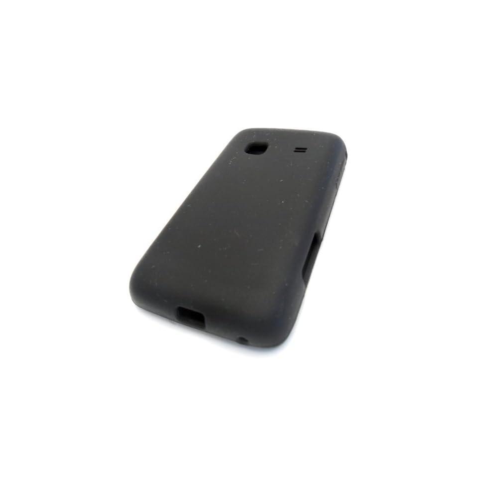 Samsung Galaxy M828c Precedent Black Soft Silicone Cover Case Skin Straight Talk Protector