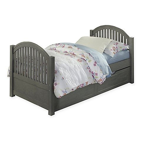 Hillsdale Kids and Teen Lake House Adrian Twin Bed with Trundle (Grey) - Footboard Hillsdale House