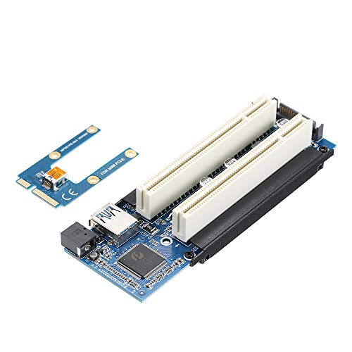 (Grborn Mini PCI-E to PCI Adapter Card mPCI-E to PCI Riser Adapter with SATA Power Cable Expansion Card with External Capture Card)