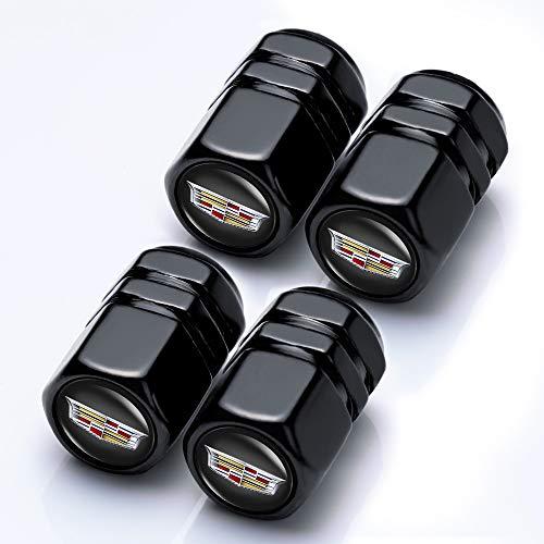 Goshion 4 Pcs Chrome Car Tire Valve Stem Caps for Cadillac XT4 XT5 CT6 SRX XTS ATS CTS CTS EXT Coupe Hybrid Escalade Decorative Accessories Styling Decoration Accessories