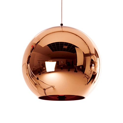 MYTZS Rose Gold Glass Globe Pendant Hanging Lights Nordic Glass Ball Lamp Shade Ceiling Lamp Fixtures Wedding Chandelier for Living Room Bedroom Restaurant KTV (200mm) (Light Glass Pendant Rose)