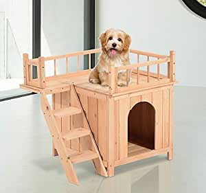 Amazon.com : Wooden Pet House Dog Cat Puppy Room Bed