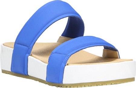 Dr. Scholls Collection Originale Femme Sandales Slide Sandal Bleu Néoprène