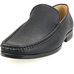 AN Mens Slip On Shoes Loafer Shoes Loafers Dress Shoes Casual Shoes Brown 45 EU (US Men's 7.5 M)