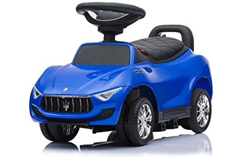 Best Ride On Cars 4 in1 Maserati Push Car, Blue