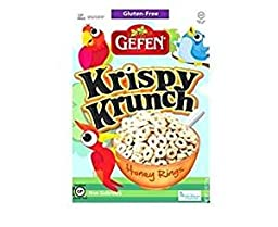 Gefen Krispy Krunch Honey Rings Gluten free Kosher For Passover 5.5 oz. Pack Of 3.