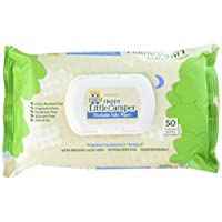 Happy Little Camper Flushable Baby Wipes with Organic Aloe, Septic Safe, 50 C...