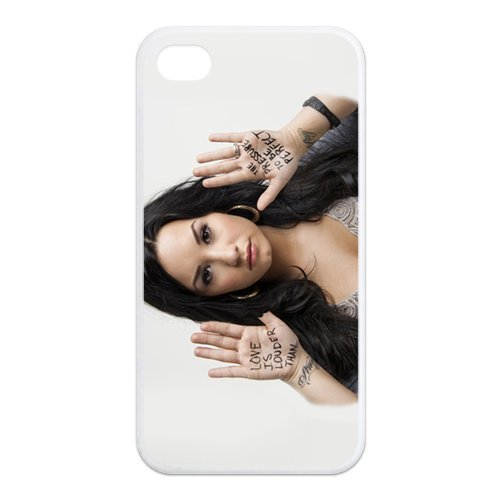 Fayruz- Demi Lovato Protective Hard TPU Rubber Cover Case for iPhone 4 / 4S Phone Cases A-i4K58