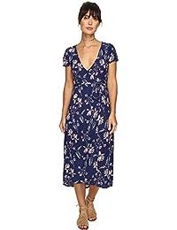 Billabong Women's Wrap Me up Midi Length Woven Wrap Dress