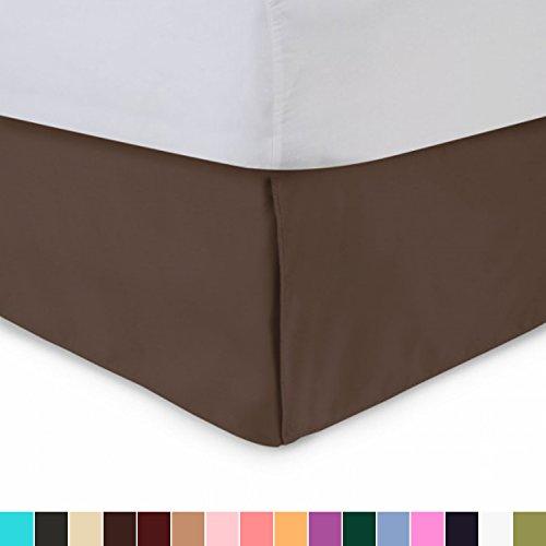Harmony Lane Tailored Bedskirt - 21 inch Drop, Brown, Queen