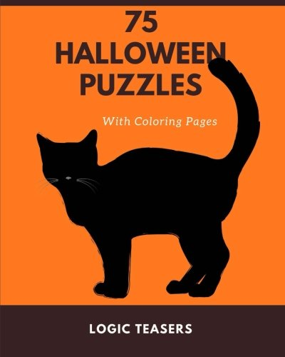 75 Halloween Puzzles: With Coloring Pages -