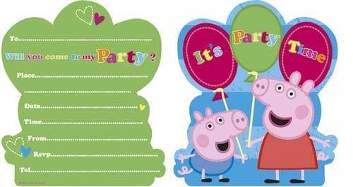 Partyrama Peppa Pig Oficial Invitaciones para Fiesta de ...