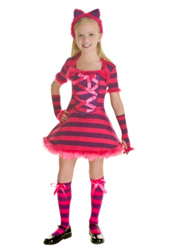 [Big Girls' Sassy Wonderland Cat Costume X-small] (Sassy Cat Costumes)