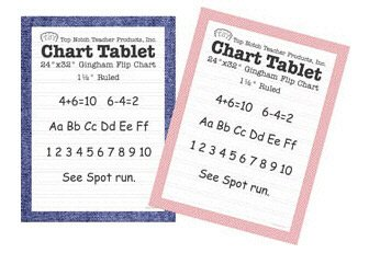Chart Tablets 16X24 Assorted Ruled by Top Notch Teacher Products