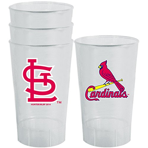 MLB St. Louis Cardinals Plastic Tumbler (Pack of 4), 16 oz., (Louis Cardinals Mlb Tumbler)