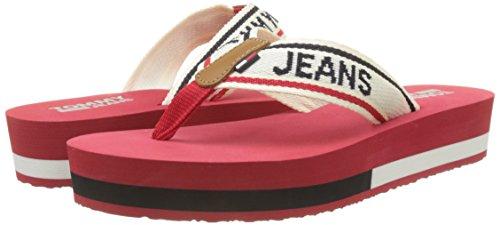 Mid Flops tango 611 Jeans Sandal Women's Red Tommy Flip Beach xqcYAEg1w6