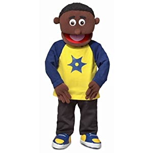 "30"" Jordan, Black Boy, Professional Performance Puppet with Removable Legs, Full or Half Body - 415EU9yemdL - 30″ Jordan, Black Boy, Professional Performance Puppet with Removable Legs, Full or Half Body"