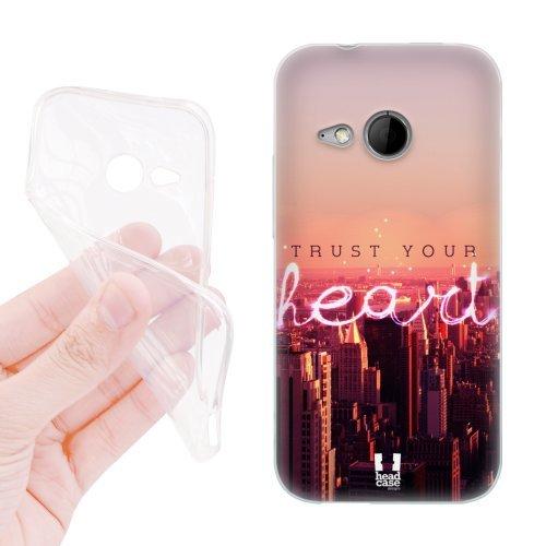 Head Case Designs Herz Stadtbild In Der Dämmerung Worte Fürs Leben Soft Gel Hülle für HTC One mini 2