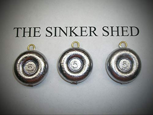 5 Oz River Coin Sinkers/Decoy Weight - Quantity of 6 Fishing Weights Set Sinker Supplies Gear and -