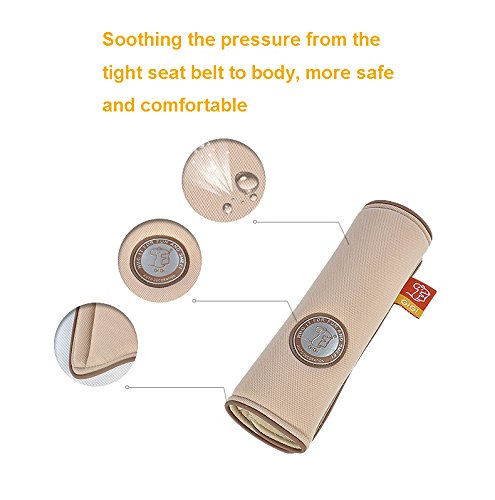 GiGi Memory Foam Auto Car Seat Belt Cover Shoulder Pad Cushion One Pair