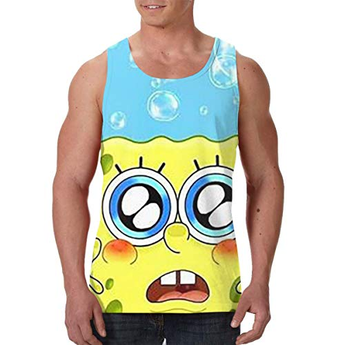 YHLSJY Men's - Spongebob- Performance Sleeveless Workout Muscle Bodybuilding Tank Tops Shirts Training Quick-Dry Sports.Tank Top for Gym Fitness Bodybuilding Running Jogging]()