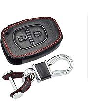 Happyit Lederen autosleutel cover case sleutelhanger voor Renault Kangoo Master Trafic Opel Vivaro Movano Nissan 2 toetsen Fob Remote