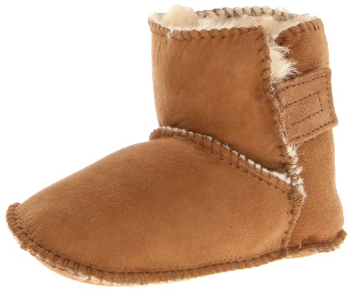 Minnetonka Sheepskin Pug Bootie (Infant/Toddler),Tan,3 M US Infant Minnetonka Genuine Boots