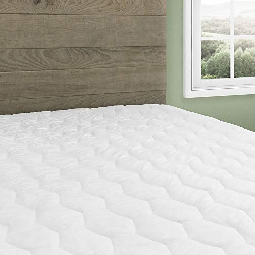 Beautyrest Cotton Top Mattress Pad Simmons Soft Cover Protector with Premium Fibers Expand-a-Grip Skirt Fits up to 15