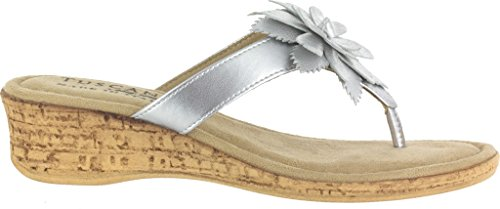 Street Silver Femmes Easy Sandales Synthetic Compensées ZwdZIq8