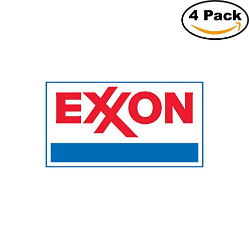 EXXON Gas vinyl cut sticker decal 3x5