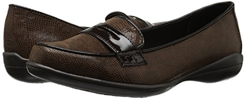Soft Style by Hush Puppies Women's Daly Penny Loafer, Dark Brown Lizard/Patent, 8.5 W US by Soft Style (Image #6)