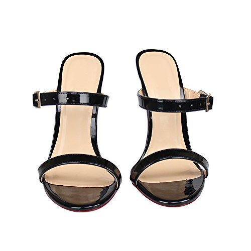 0574c15b6153 Fereshte Men s Women s Crossdresser Drag Queen Open Toe Slip On Stiletto  High Heels Slippers Sandals 30