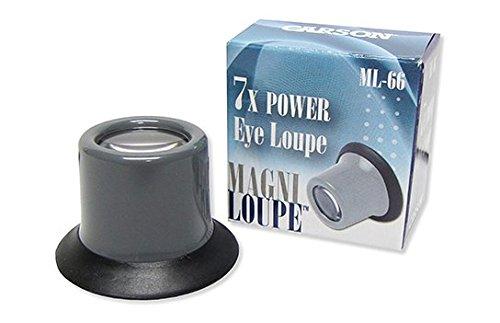 Carson MagniLoupe 4.5x/7x/8x Power Eye Loupe with Rubber Cushion (ML-44, ML-66, ML-88)