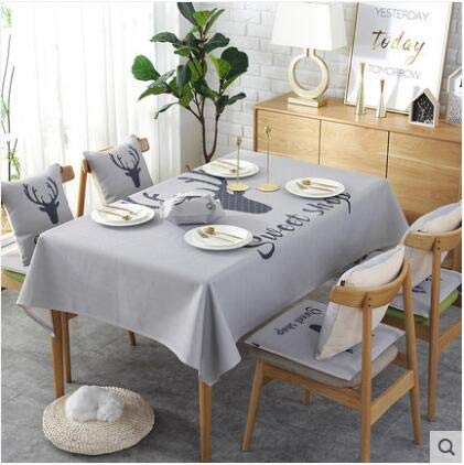 Europe luxury embroidered tablecloth table dining table cover table cloth Simple fabric waterproof tablecloth coffee table cloth   B07R6KQ248