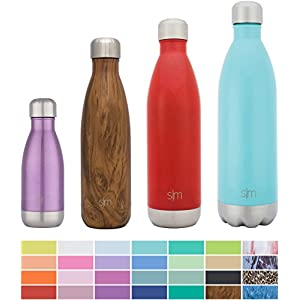 Simple Modern Stainless Steel Vacuum Insulated Double-Walled Wave Bottle, 25oz - Strawberry Red