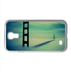 Golden Gate Bridge Fog Watercolor style Cover Samsung Galaxy S4 I9500 Case (California Watercolor style Cover Samsung Galaxy S4 I9500 Case)