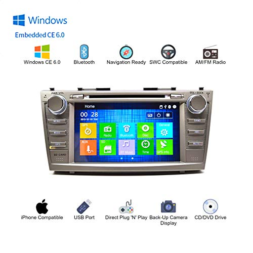 In Dash Double Din Touch Screen GPS Navigation Bluetooth Multimedia Radio for Toyota Camry 2007-2011