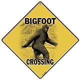 "CROSSWALKS Bigfoot Crossing 12"" X 12"" Aluminum Sign (X237)"